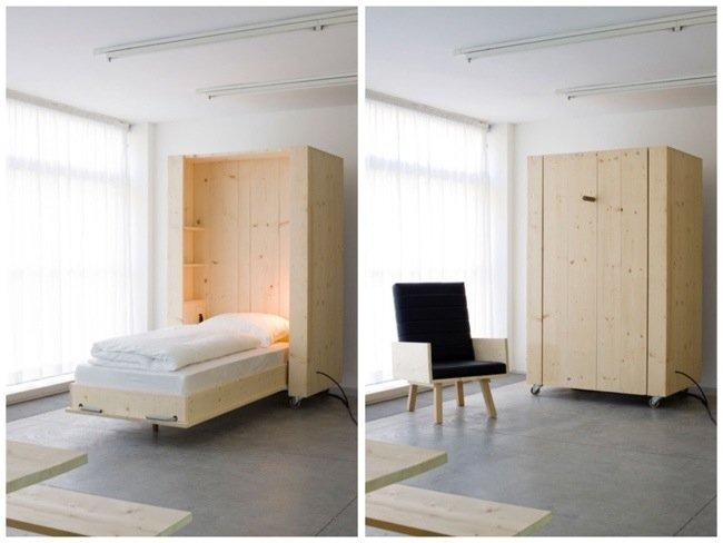 เตียงกล่องติดล้อ เปิดเมื่อต้องการใช้ ประหยัดพื้นที่  2 - เตียงนอน