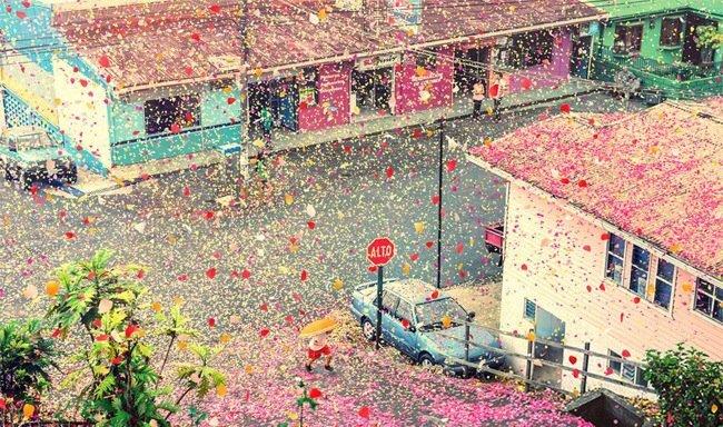 เมื่อภูเขาไฟระเบิดเป็น 8 ล้านกลีบดอกไม้ ปกคลุมทั่วหมู่บ้านใน Costa Rica 2 - Sony (โซนี่)