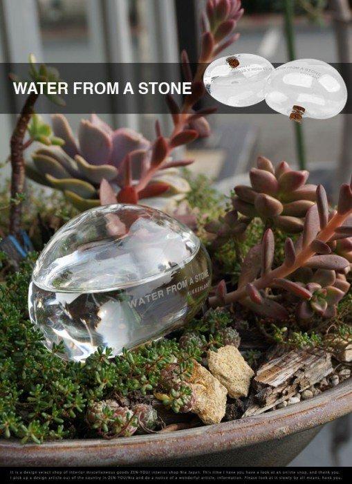 ให้น้ำต้นไม้แบบประหยัดน้ำ..จากก้อนน้ำใสๆ..แนวZen.. 13 - ที่ให้น้ำ