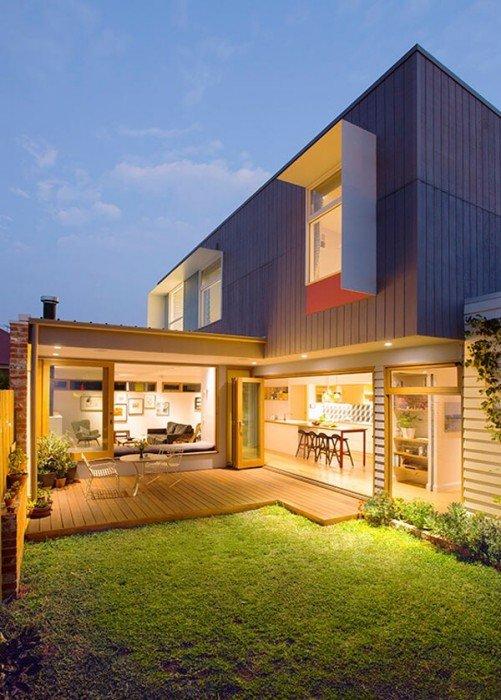 บ้านสีสันสดใส..แม้งบจำกัด แต่ดูดี งดงาม ลงตัวไปหมด 13 - courtyard