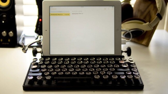 USB keyboard ที่จะทำให้การพิมพ์คอมพิวเตอร์ หรือแท็ปเล็ต ได้อารมณ์แบบใช้เครื่องพิมพ์ดีด 13 - gadget