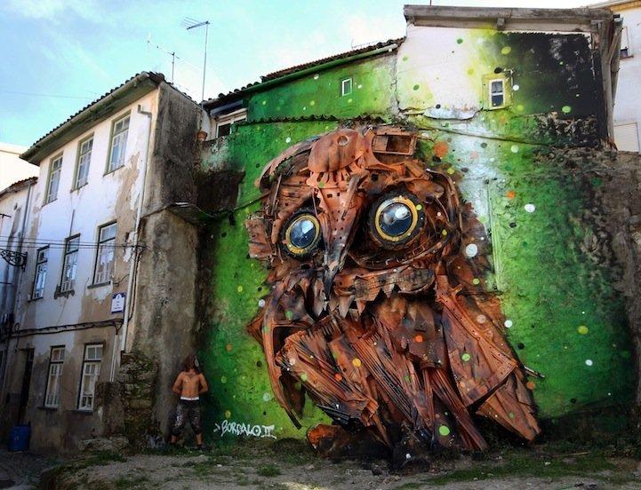 """รีไซเคิล """"ขยะ"""" ให้เป็นงานศิลปะ 3D Street Art 2 - installation art"""