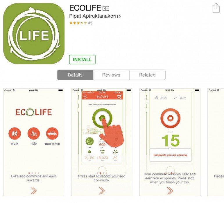 ECO Life app สนุกกับการเดินทาง ได้ประหยัดพลังงาน และสะสมแต้มรับของรางวัล 2 - Eco