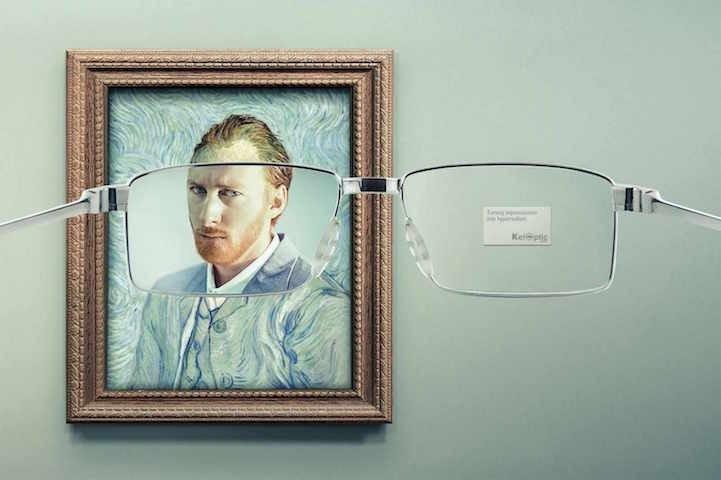 โฆษณาแว่นตา ที่แม้แต่ภาพimpressionist เบลอๆ ยังคมชัดได้! 2 - advertising