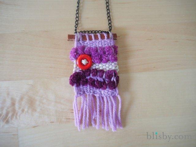 DIY : สร้อยคอน่ารัก ทอจากไหมพรม 13 - necklace