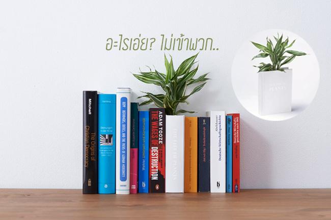 Book planter นี่หนังสือ หรือ กระถางต้นไม้ ดีไซน์การปลูกต้นไม้จาก YOY studio, Japan 13 - book