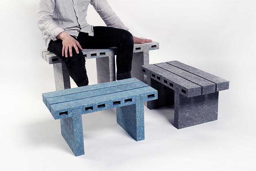 """เฟอร์นิเจอร์รักโลก จาก กระดาษหนังสือพิมพ์ใช้แล้ว สู่ """"อิฐกระดาษ"""" มากประโยชน์ 2 - Design"""