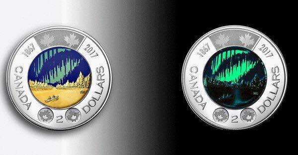 เงินเหรียญ เหรียญแรกในโลกที่ออกแบบให้เรืองแสงได้ ผลิตเพียง 3,000,000 เหรียญ 13 - Canada
