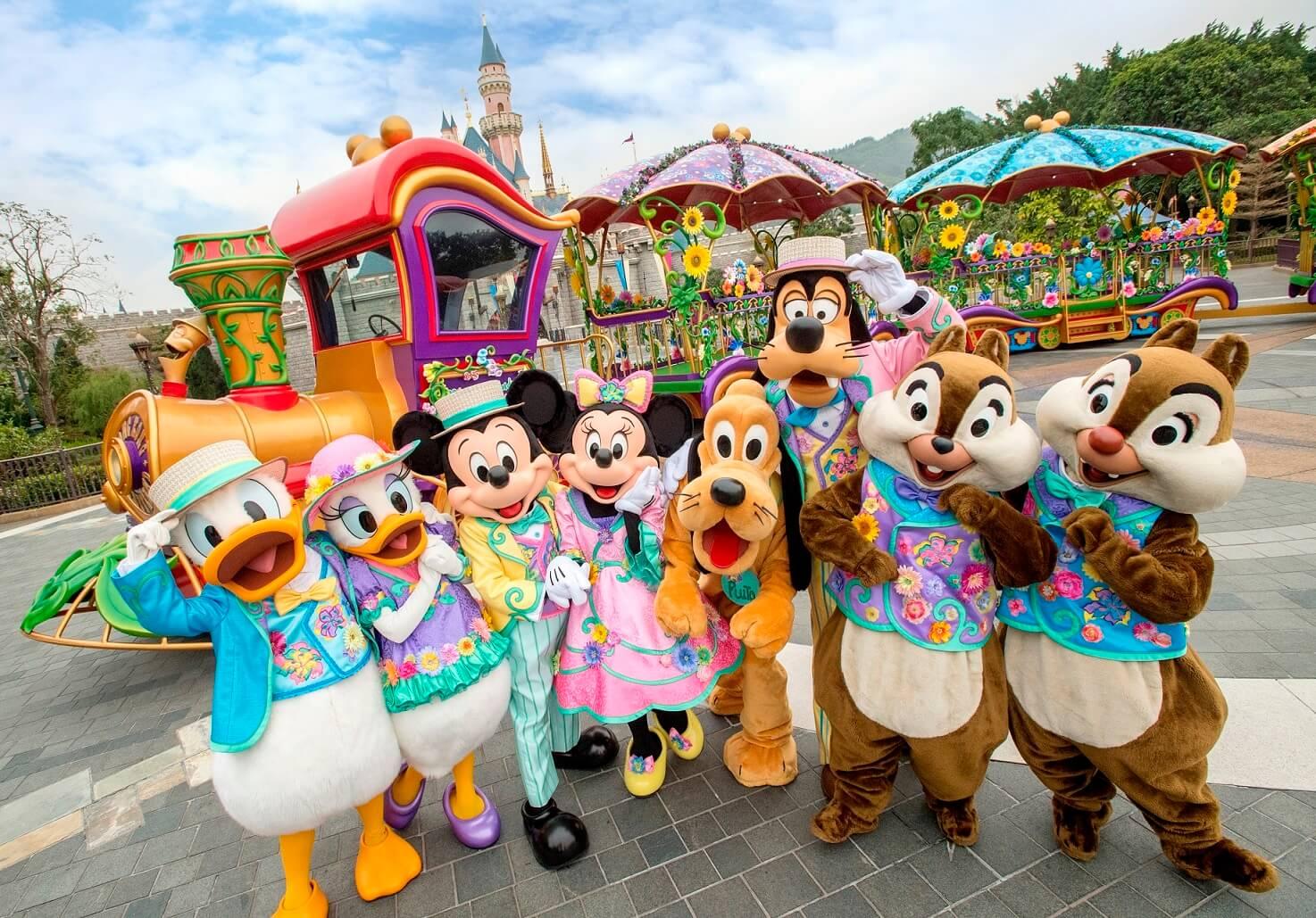 ฮ่องกงดิสนีย์แลนด์ ชวนเที่ยวเทศกาลเฉลิมฉลองฤดูใบไม้ผลิ Disney Friends Springtime Carnival