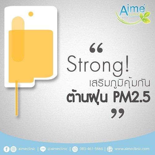 สตรอง เสริมภูมิคุ้มกัน ต้าน ฝุ่น PM 2.5 13 -