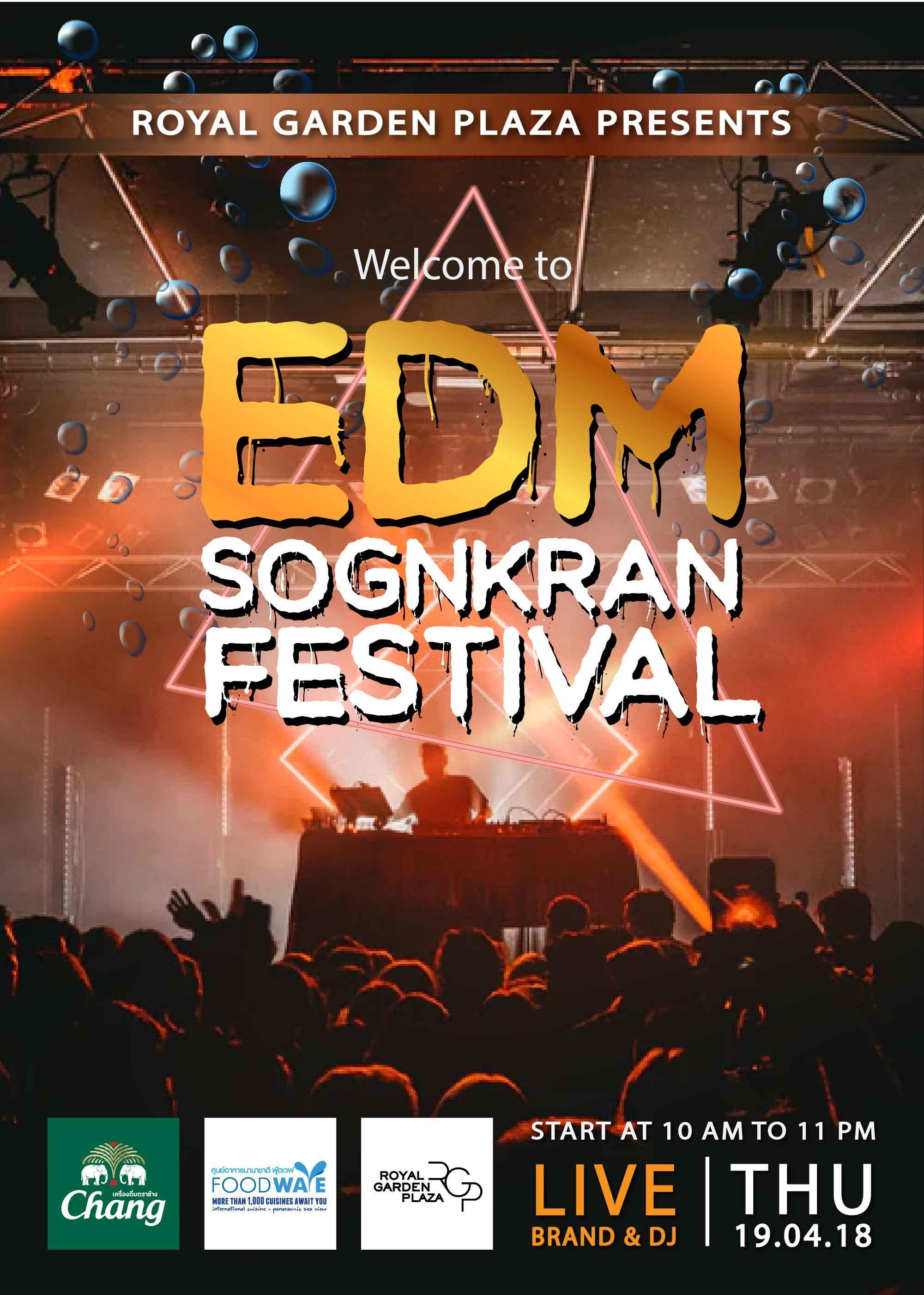 EDM Songkran Festival 2018 at Royal Garden Plaza Pattaya