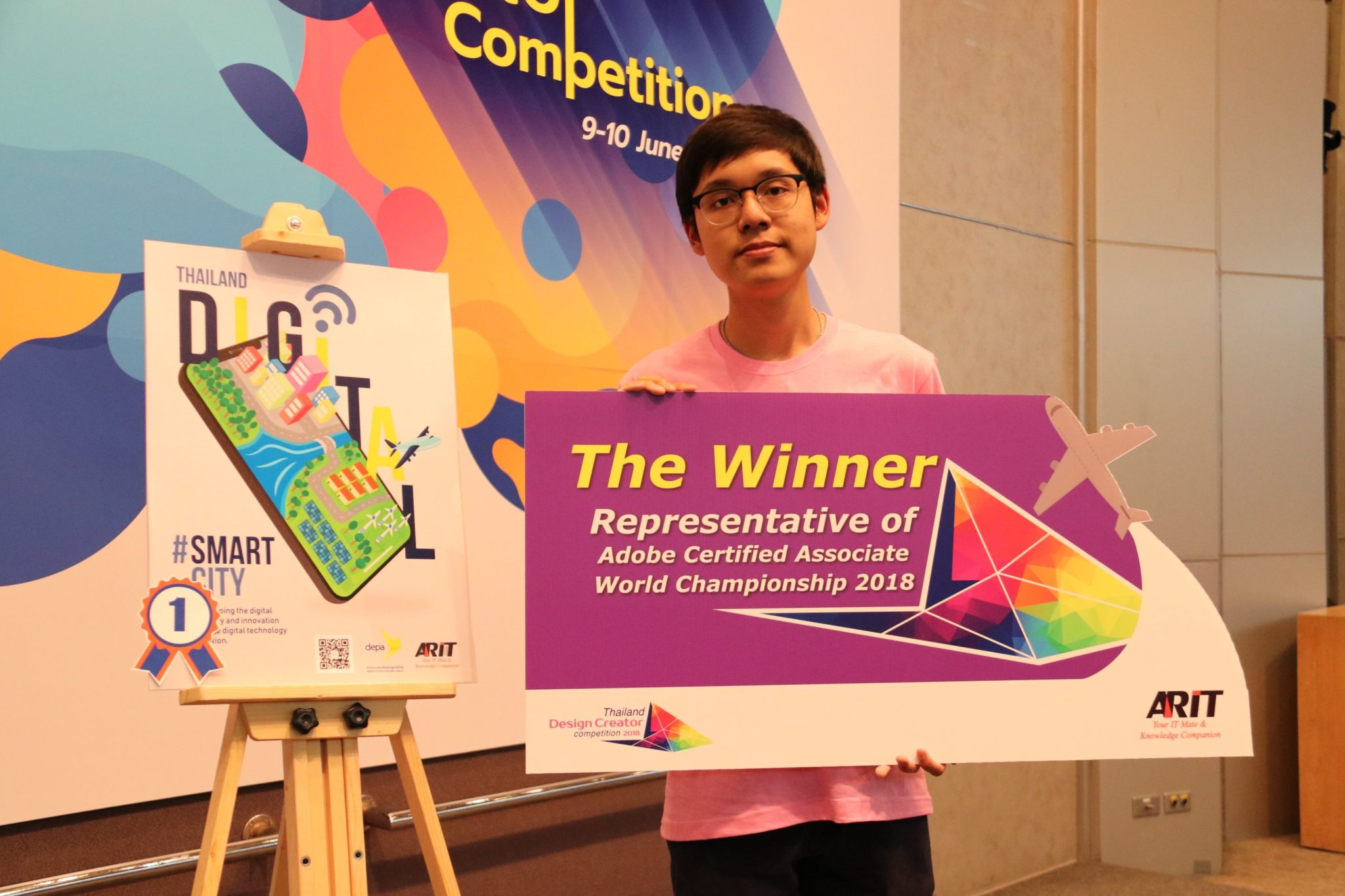 ARIT แสดงความยินดีกับ เยาวชนไทยคว้าแชมป์เวที Thailand Design Creator Competition 2018
