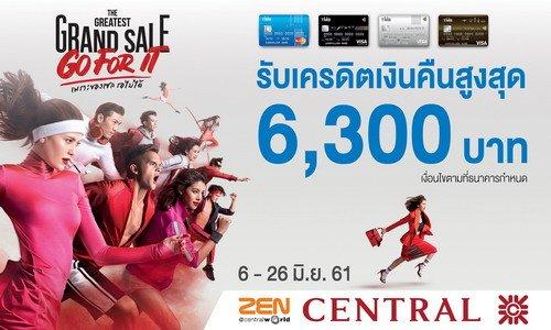 บัตรเครดิตทีเอ็มบี เอาใจขาช้อป ให้เครดิตเงินคืนสูงสุด 6,300 บาทที่งาน Central Greatest Grand Sale 13 -