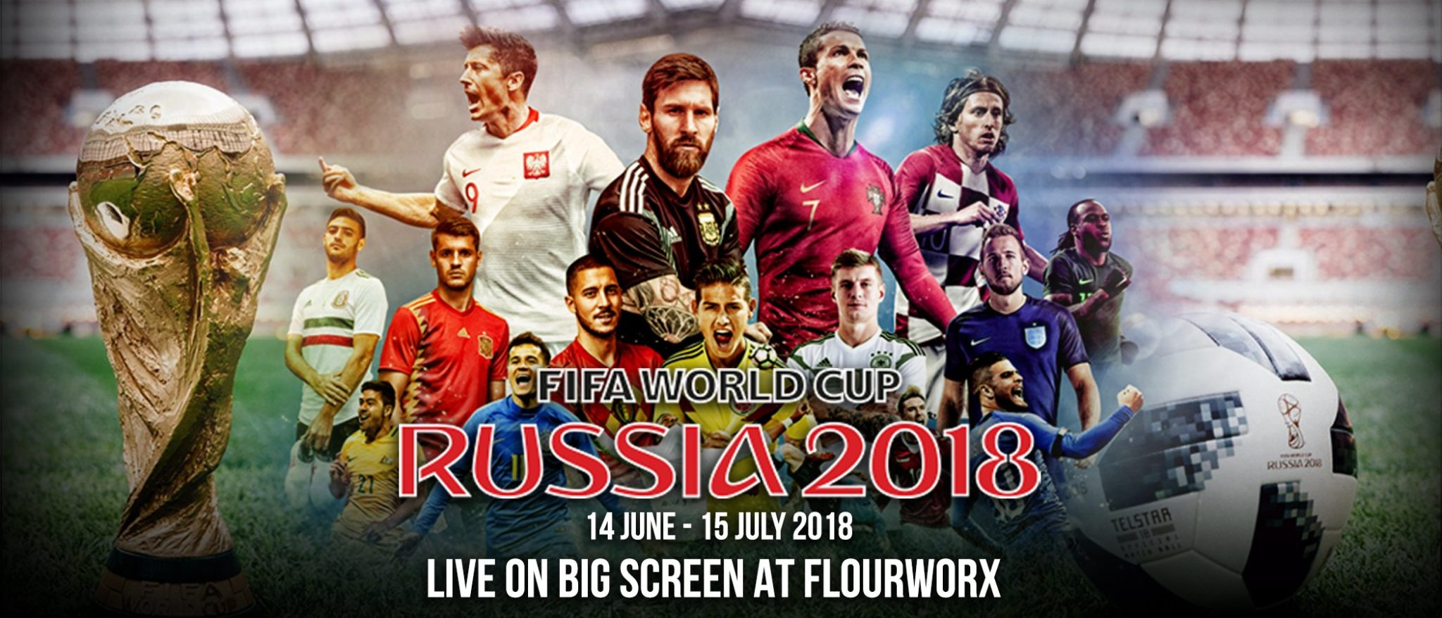 FIFA World Cup 2018 Live at FlourWorx Café - Pullman Bangkok Grande Sukhumvit 13 -