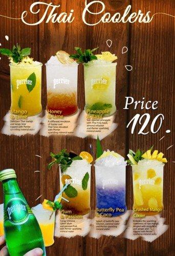 """โรงแรมเซ็นทารา หาดใหญ่ น้ำผลไม้ไทยผสมน้ำแร่ Perrier """"Thai Coolers """" 13 -"""