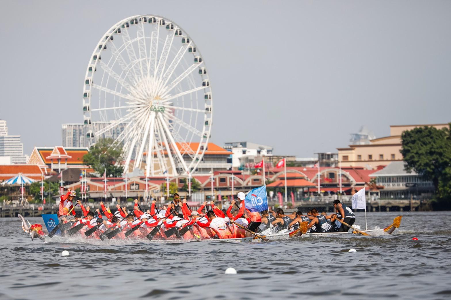การแข่งเรือยาวช้างไทย การกุศล ชิงถ้วยพระราชทานสมเด็จพระเจ้าอยู่หัว ครั้งแรกของประเทศไทยเริ่มต้นพร้อมความสนุกครบรส 13 -